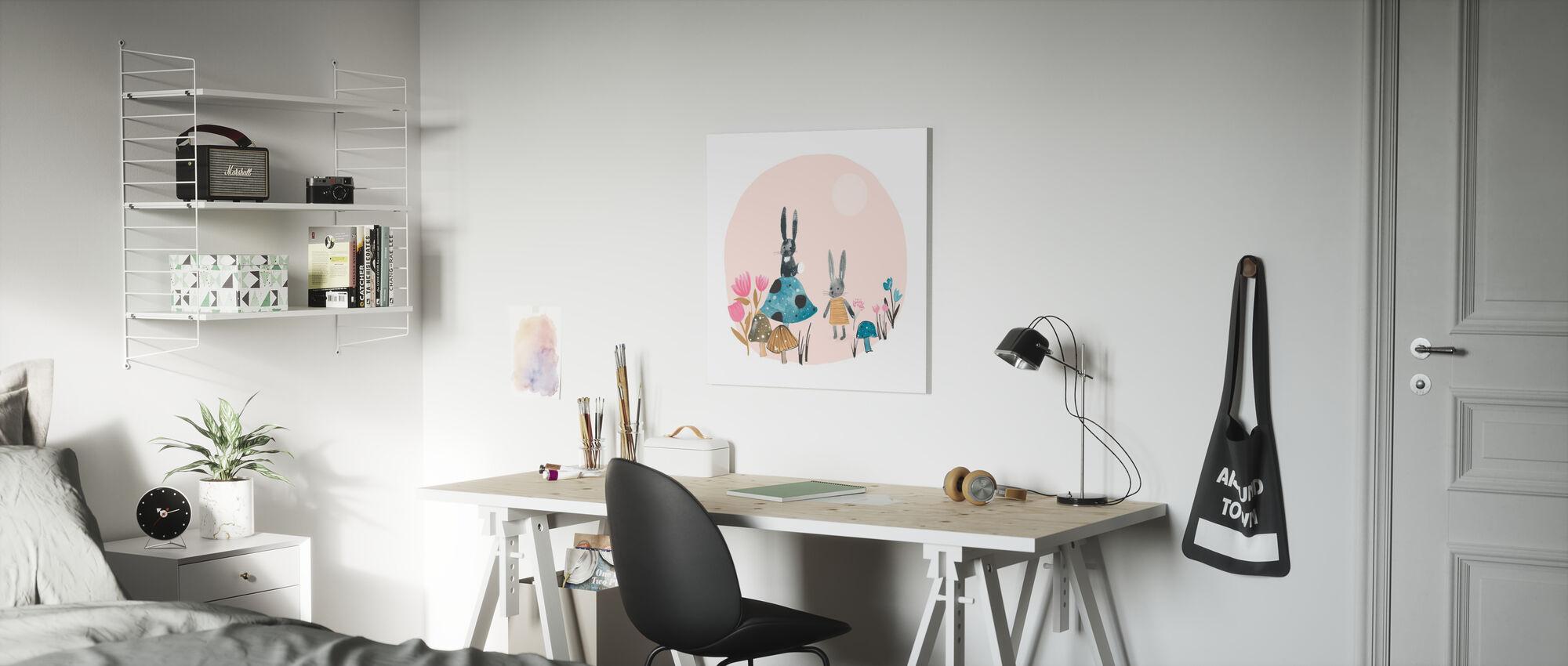 Bunnies - Canvas print - Kids Room