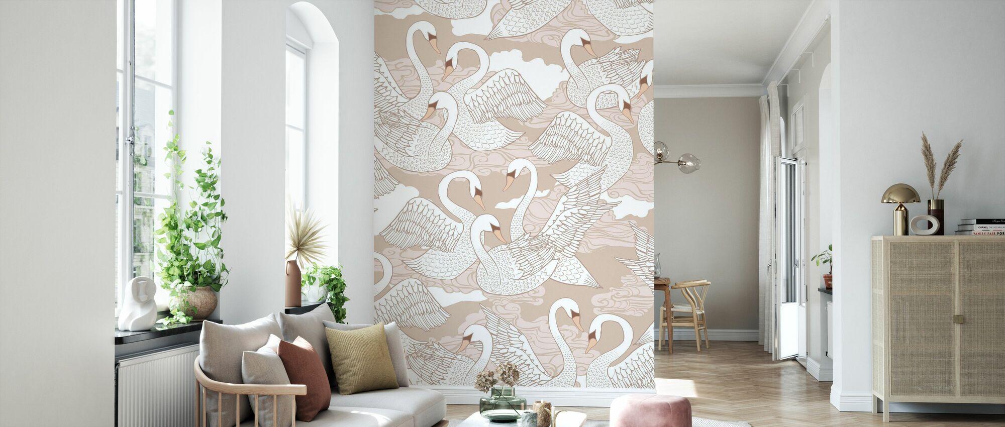 Swans Cotton - Wallpaper - Living Room