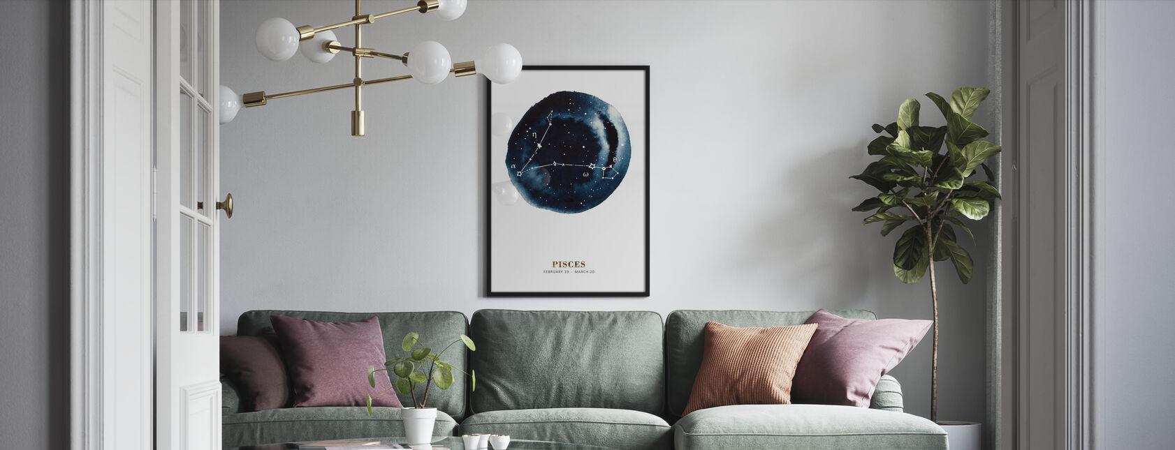 Sternzeichen - Fische - Gerahmtes bild - Wohnzimmer
