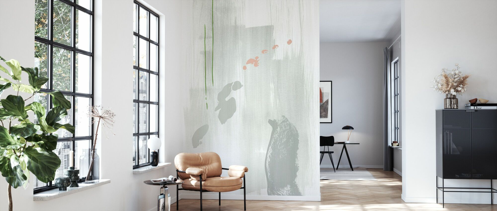 Abstractia - Lys Grå - Tapet - Stue