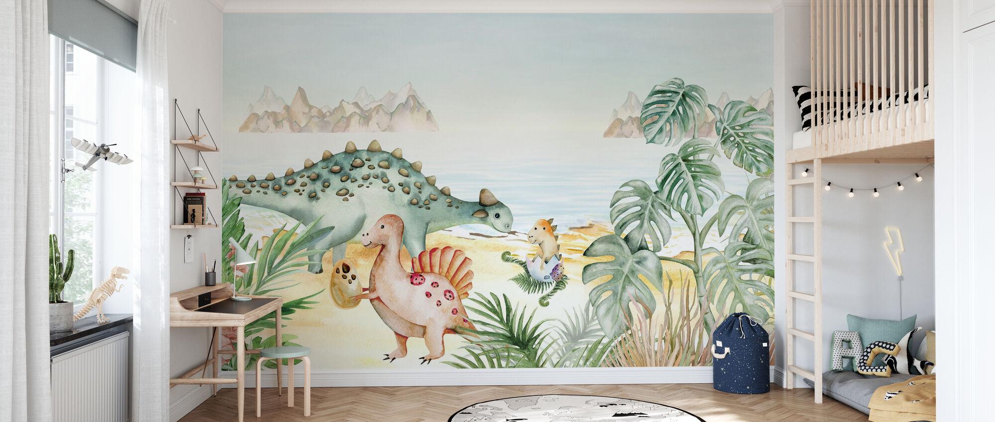 Dinosaur Island - Wallpaper - Kids Room