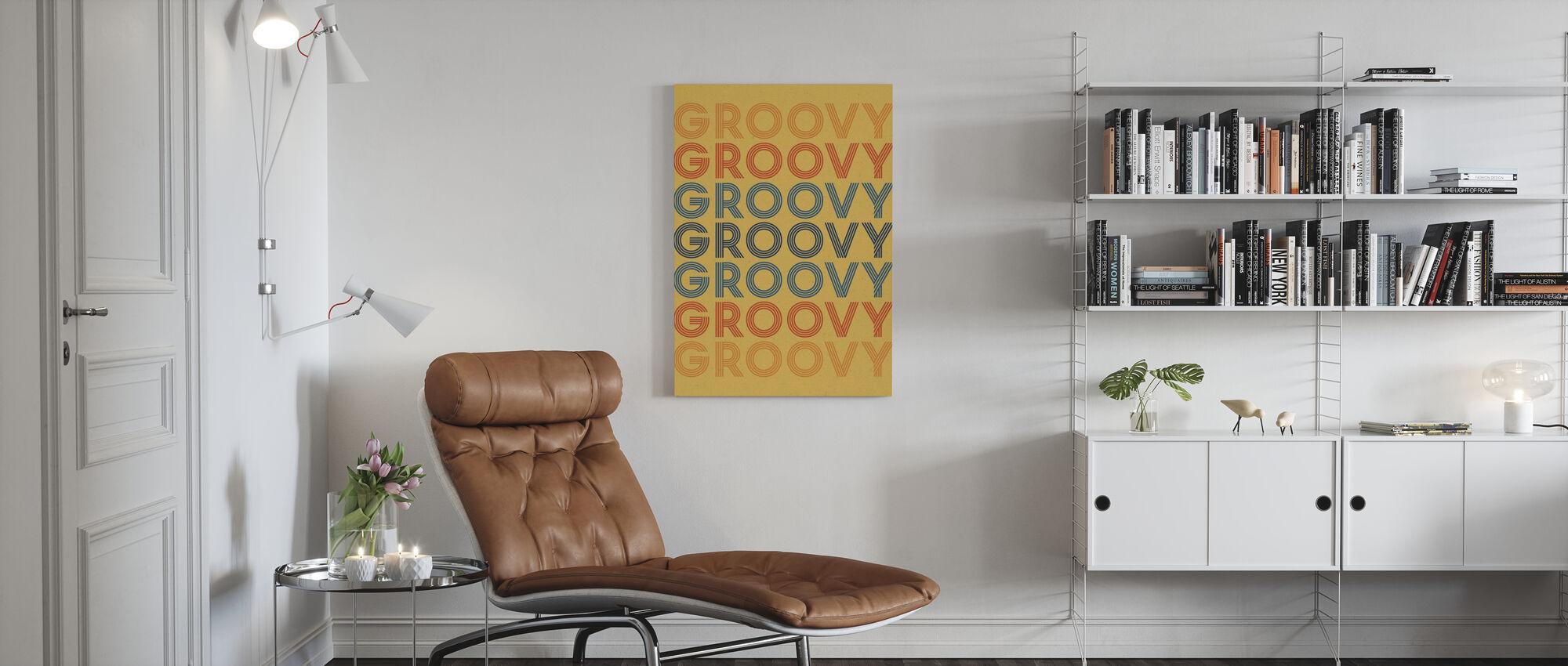Retro Words - Canvas print - Living Room