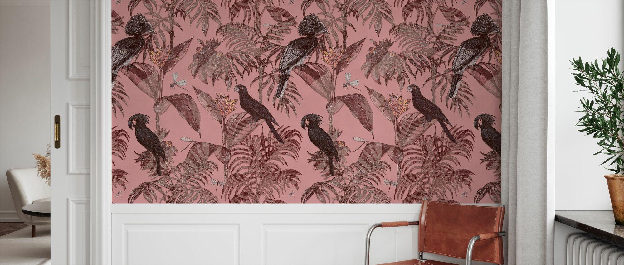 Parrotia - Rosy - Wallpaper - Hallway