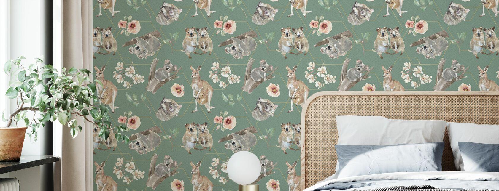 Aussie Liefde Patroon III - Behang - Slaapkamer
