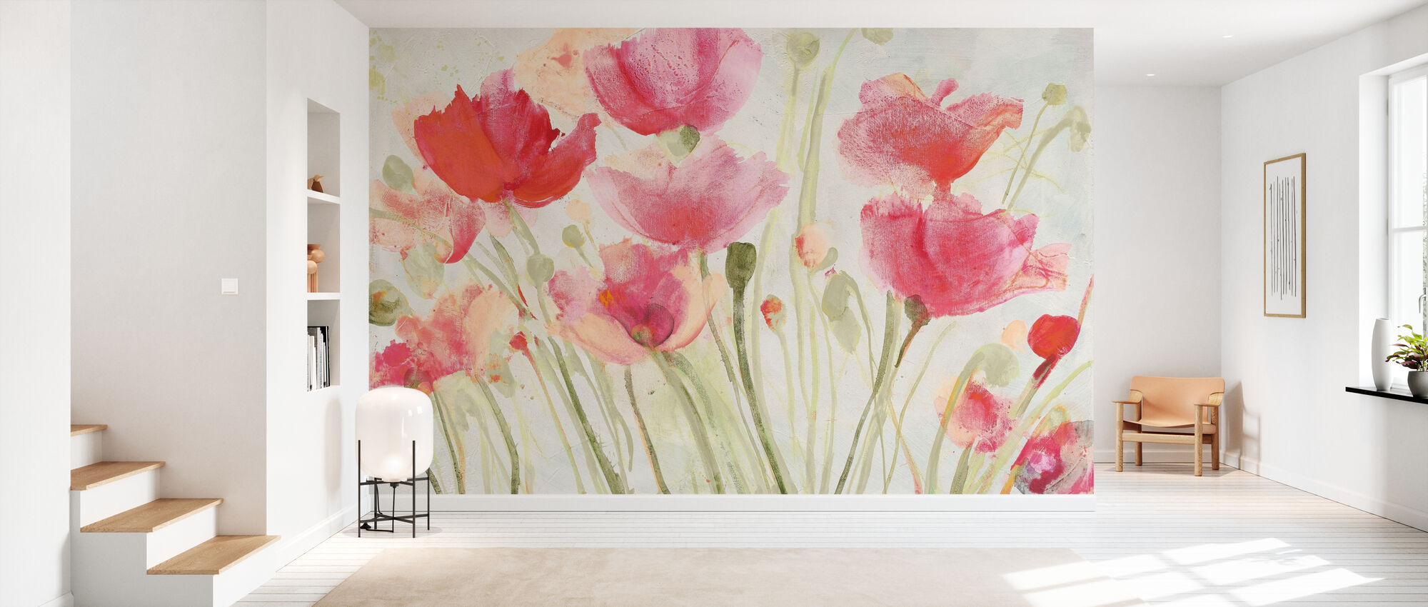 Blush Poppies - Wallpaper - Hallway