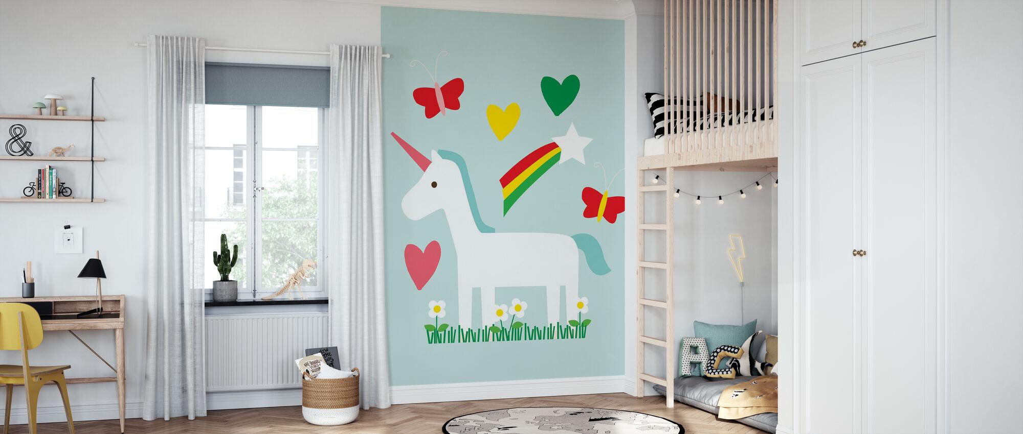 Unicorn Fun - Wallpaper - Kids Room