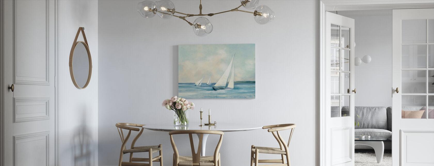 Segelboote bei Sunrise - Leinwandbild - Küchen