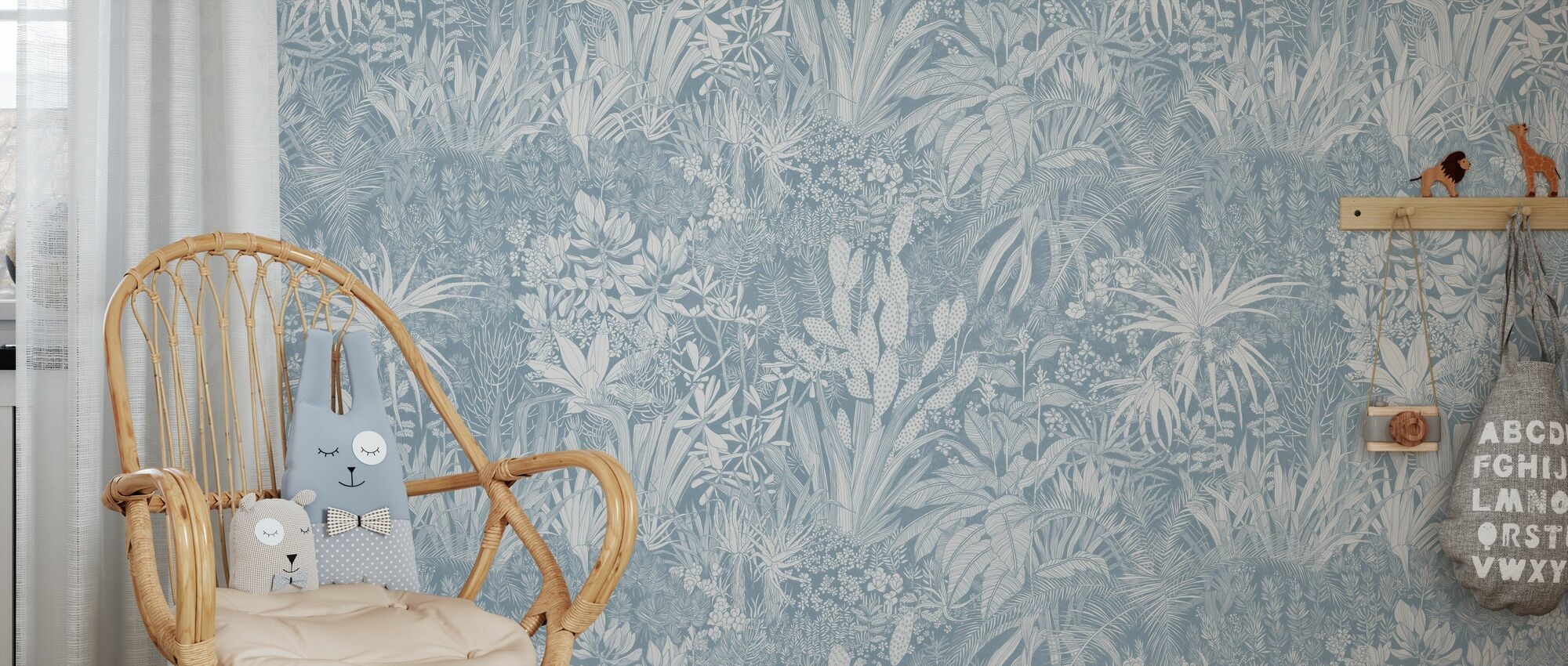 Highveld Garden - Light Blue - Wallpaper - Kids Room