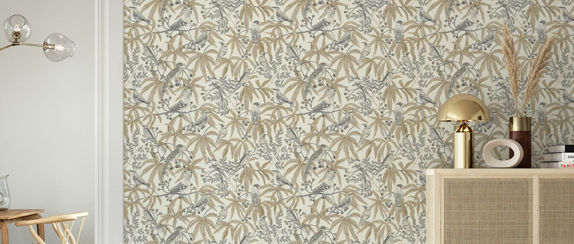 Bush Birders - Sand - Wallpaper - Living Room