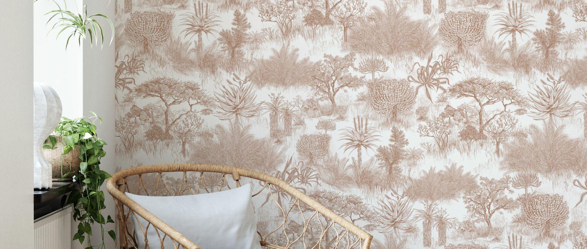 Safari Plains - Blush - Wallpaper - Living Room