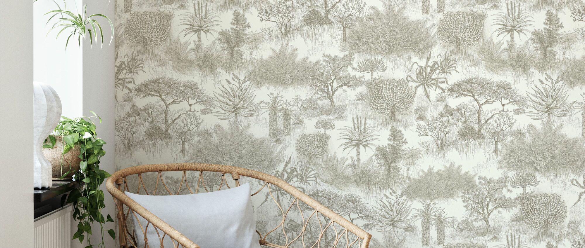 Safari Plains - Mink - Wallpaper - Living Room