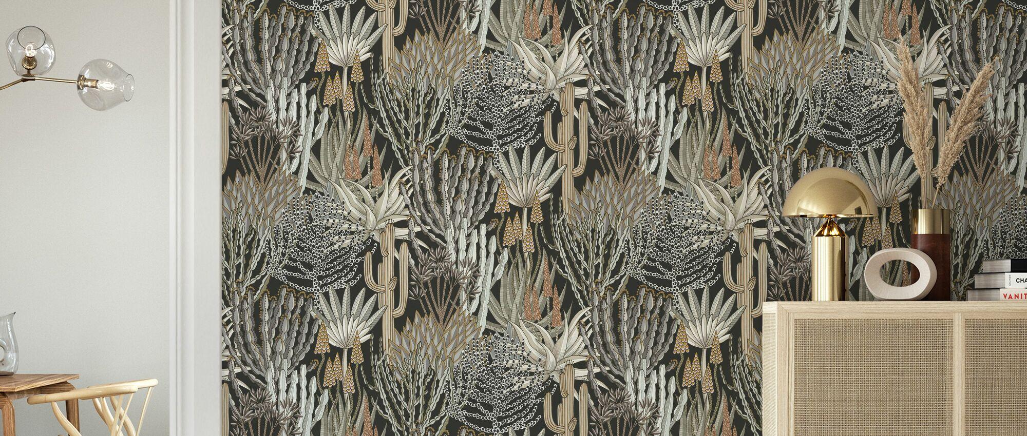Euphorbia Forest - Africa - Wallpaper - Living Room