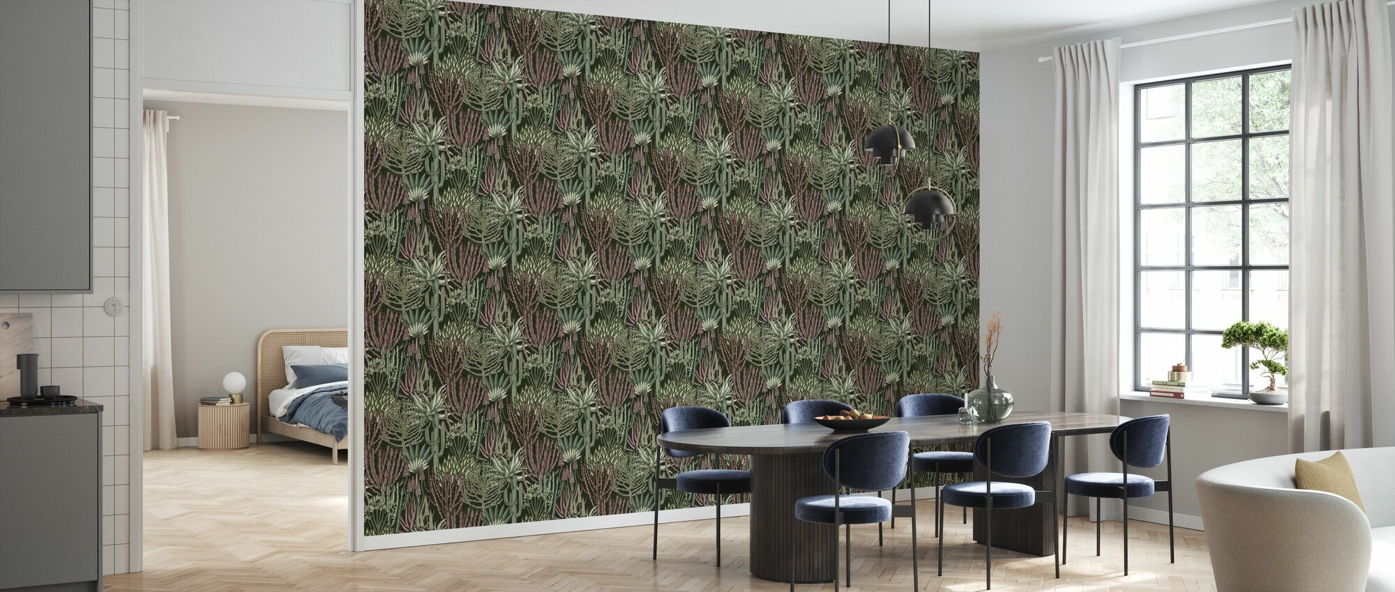 Euphorbia Skov - Camouflage - Tapet - Køkken