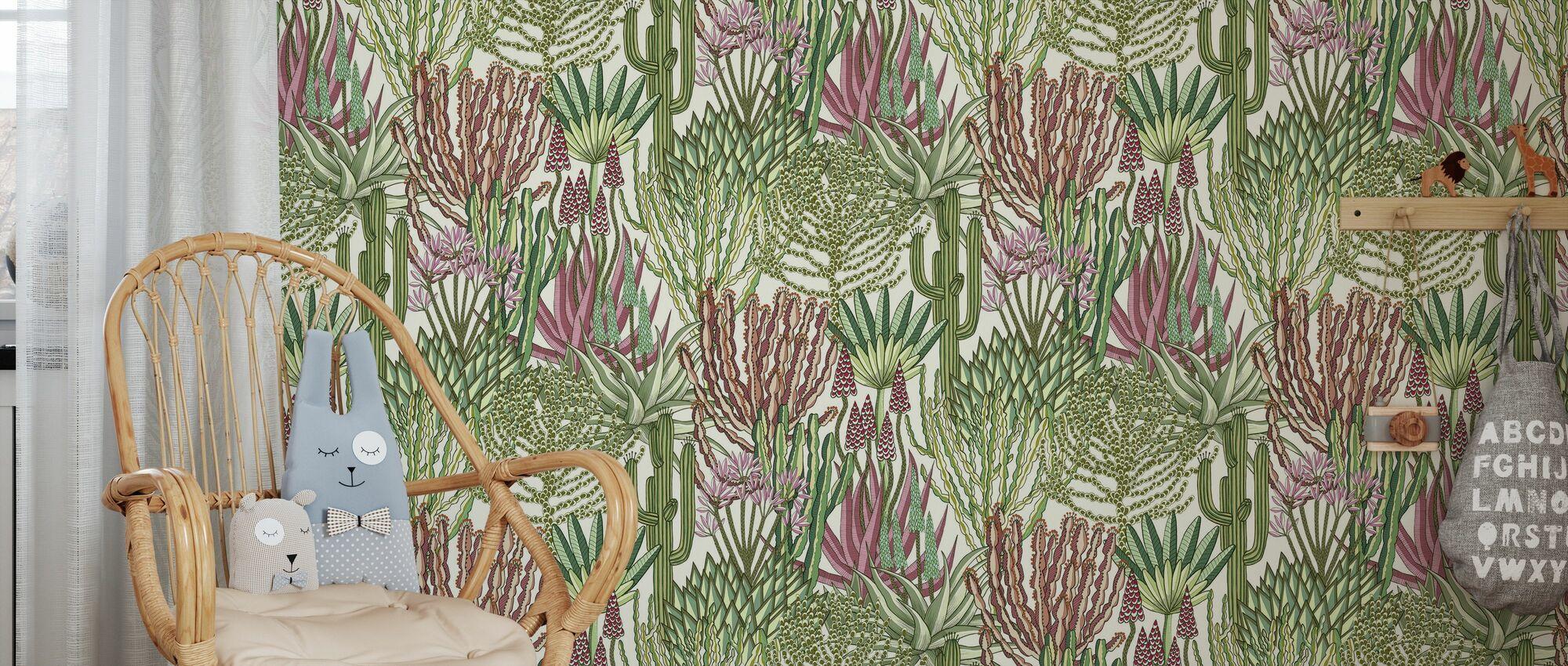 Euphorbia Forest - Paradise - Wallpaper - Kids Room
