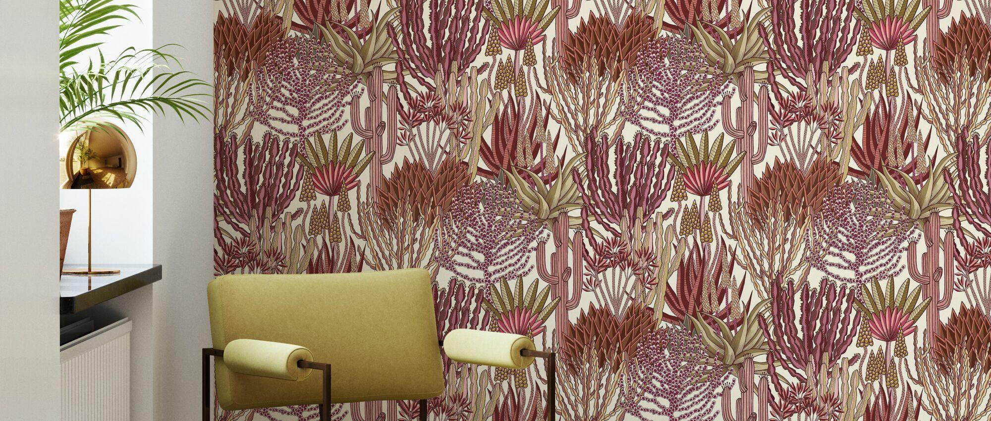 Euphorbia Forest - Sunrise - Wallpaper - Living Room