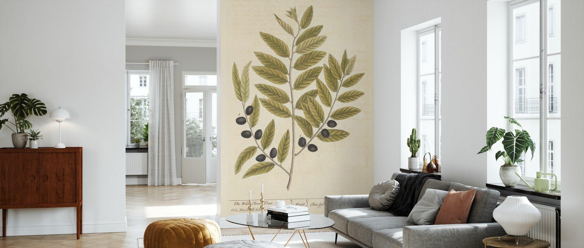 branche d'olivier - Papier peint - Salle à manger