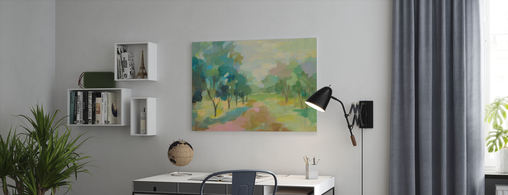 Sunrise Forest - Canvas print - Office