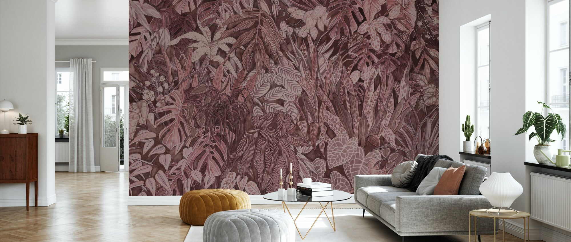 Tanglewood Forest Wall - Clay - Wallpaper - Living Room