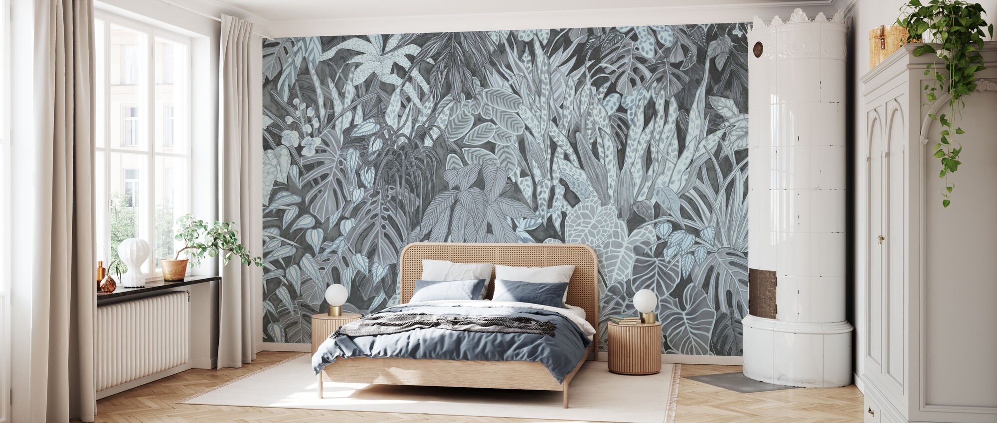 Tanglewood Forest Wall - Powder Blue - Wallpaper - Bedroom