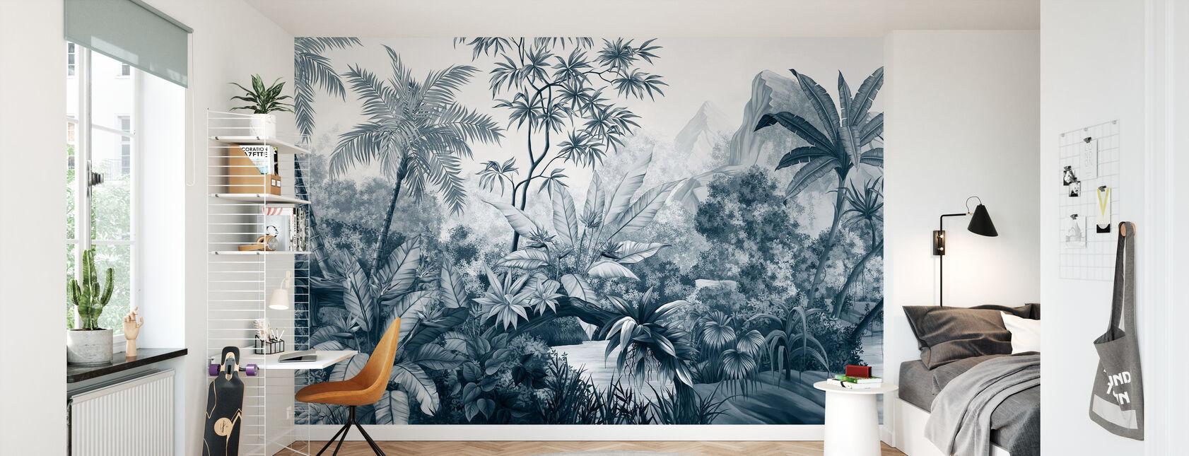 Jungle emmêlée - Bleu Foncé - Papier peint - Chambre des enfants