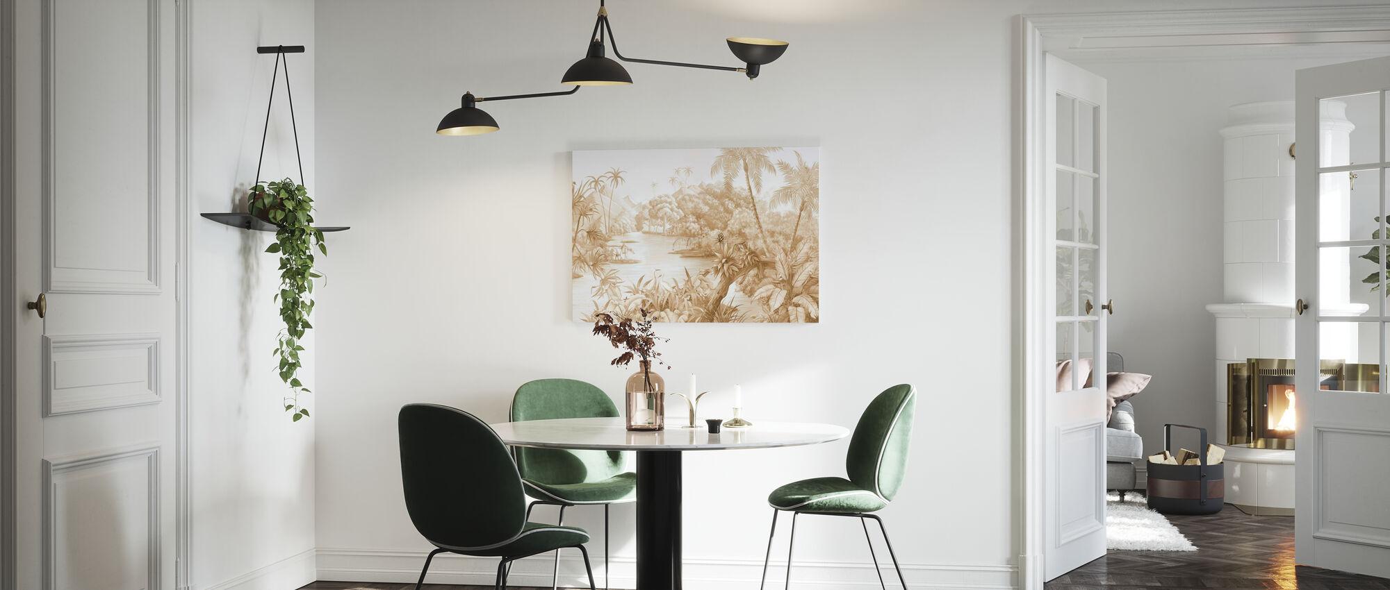 Tangled Jungle II - Caramel - Canvas print - Kitchen