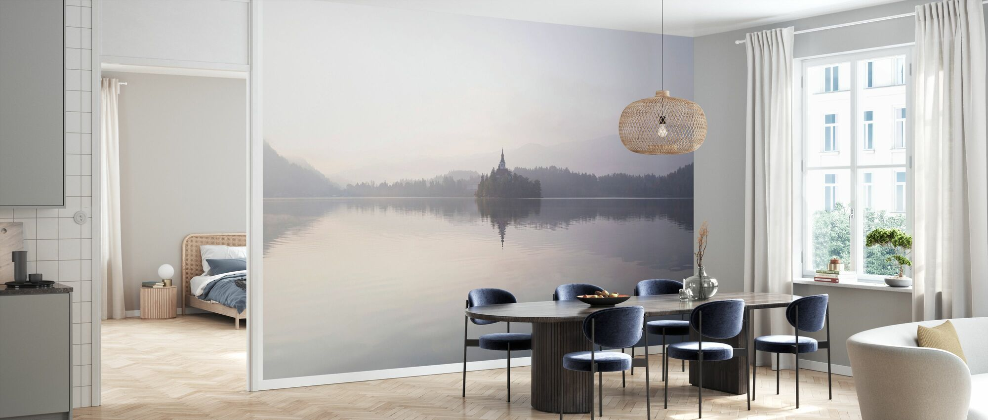 Lake Bled at Sunrise - Wallpaper - Kitchen