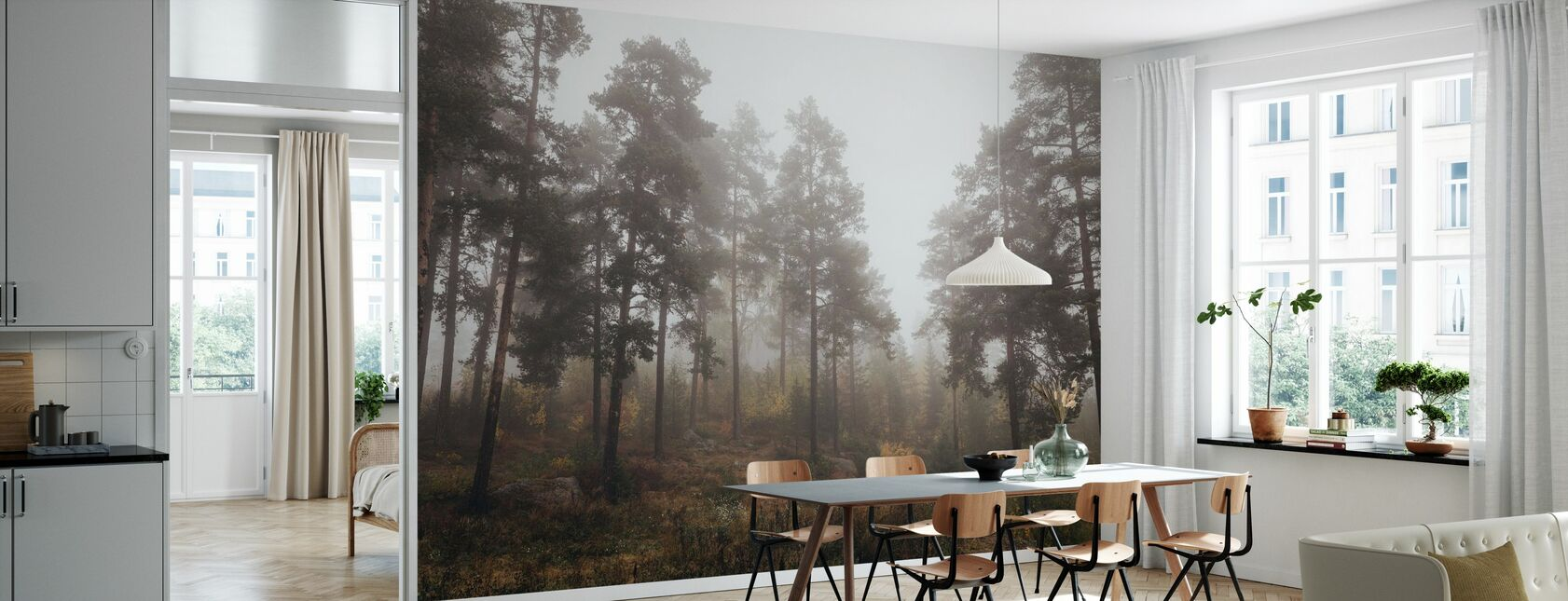 Moody Fall in the Forest - Wallpaper - Kitchen
