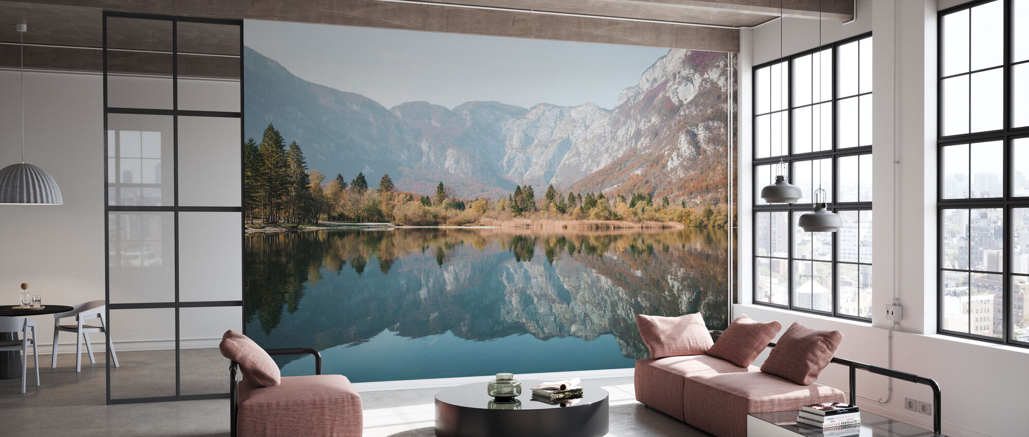 Mountain Reflections at Bohinj - Wallpaper - Office