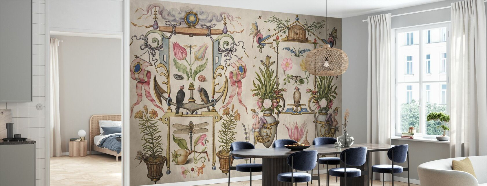 Painted Wall - Living Entity - Wallpaper - Kitchen
