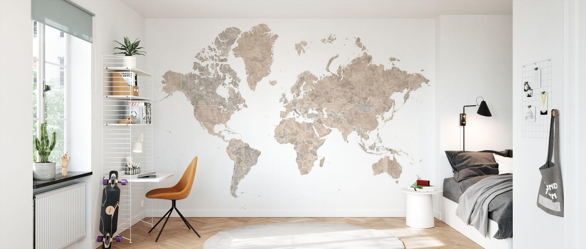 Weltkarte - Tapete - Kinderzimmer