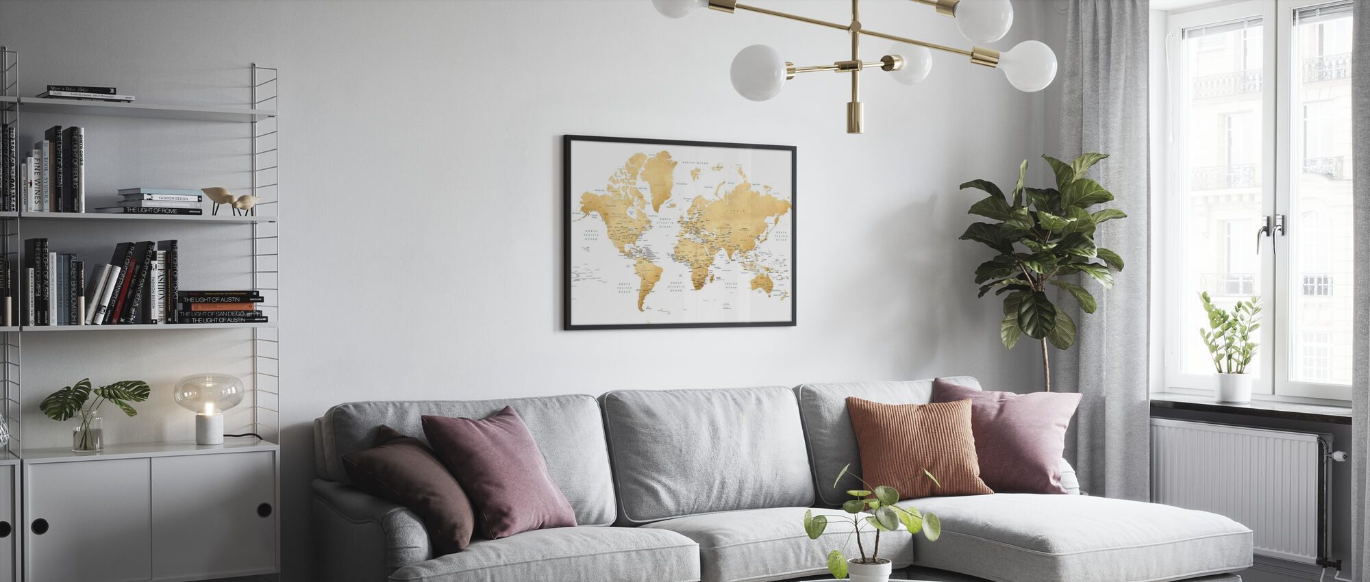 World Map with Capitals - Poster - Living Room