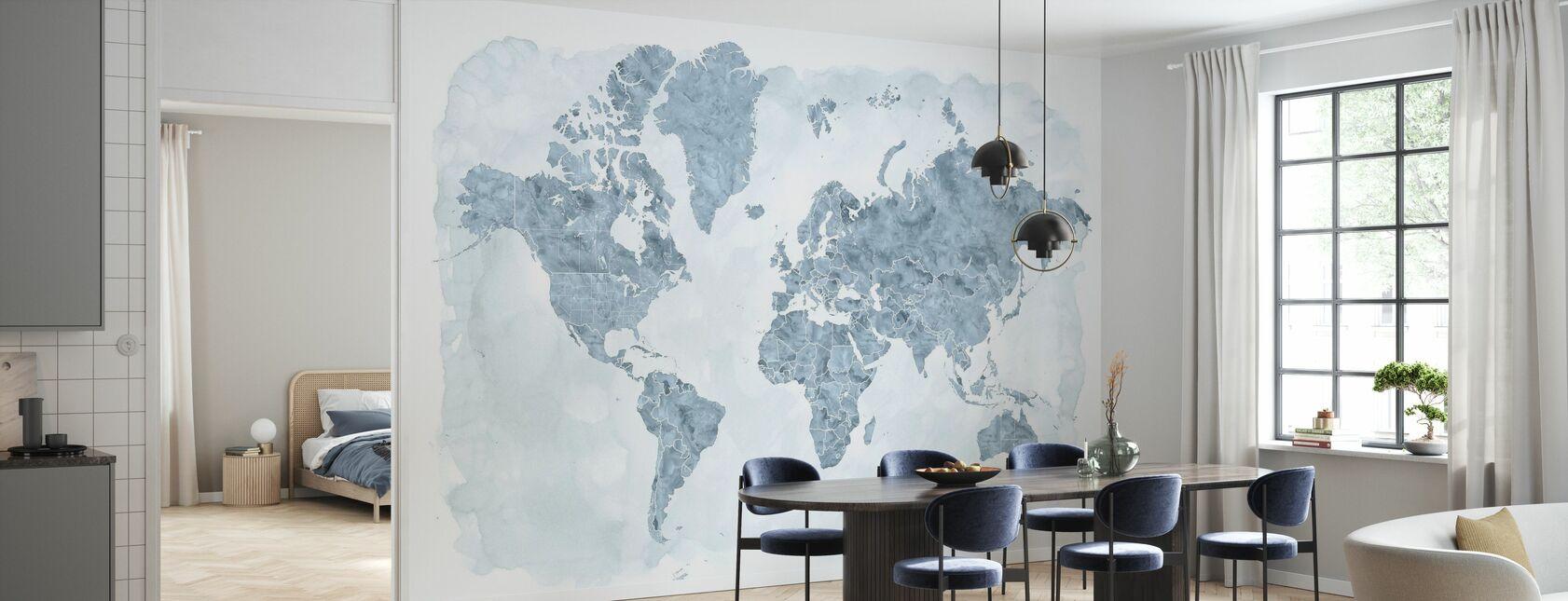 Mappa del mondo senza testo III - Carta da parati - Cucina