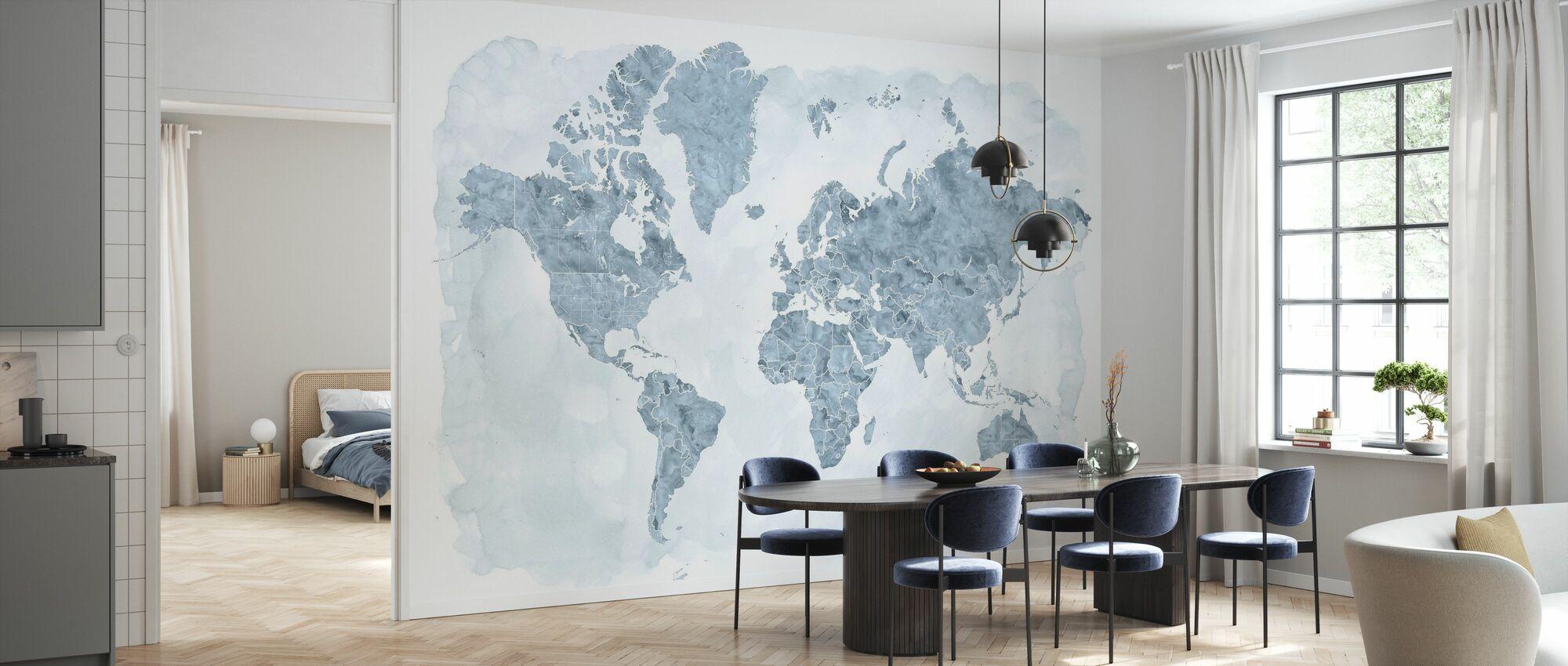Weltkarte ohne Text III - Tapete - Küchen