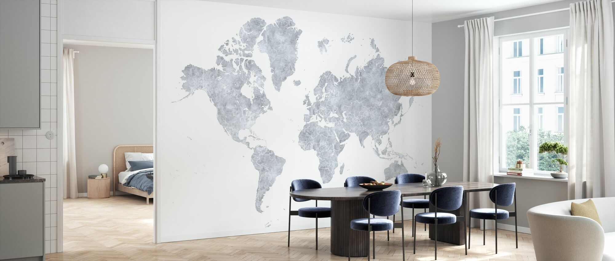Weltkarte ohne V - Tapete - Küchen
