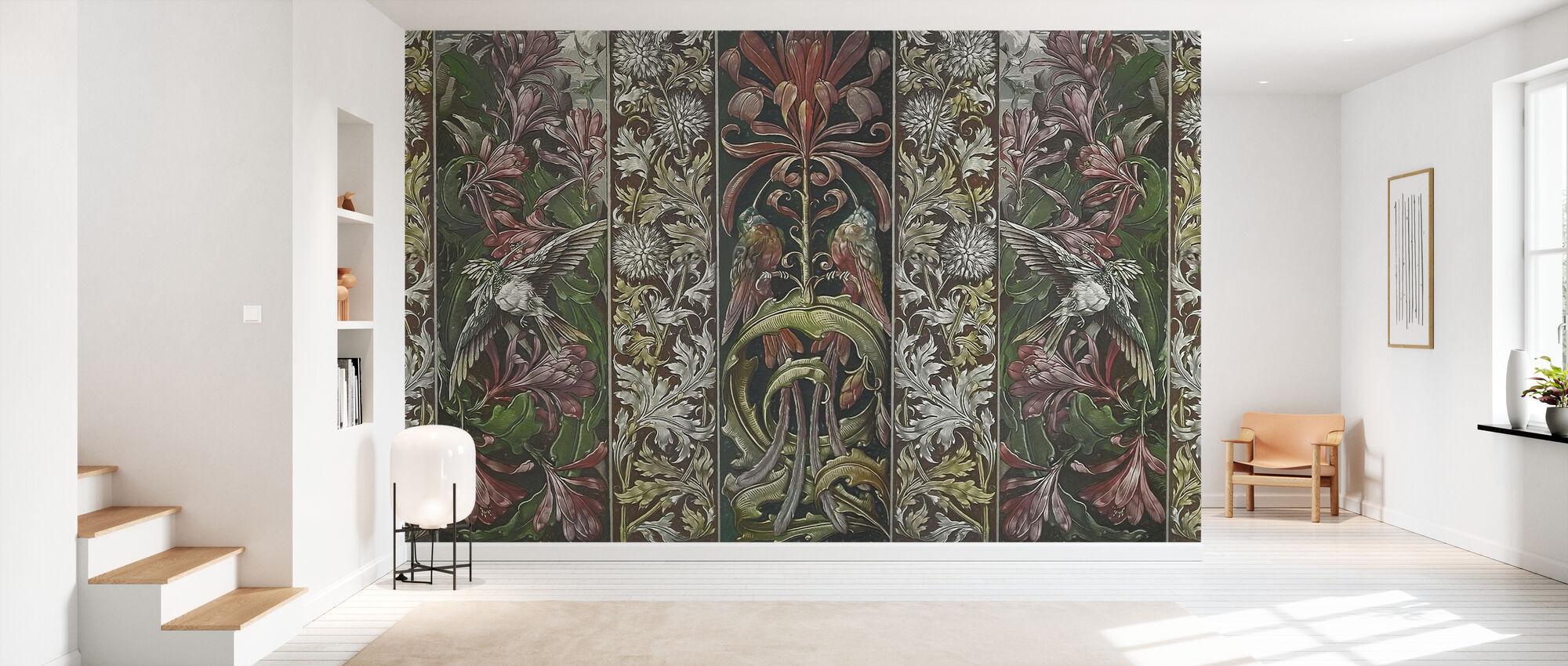 Bloemen en Vogels panelen - Behang - Gang