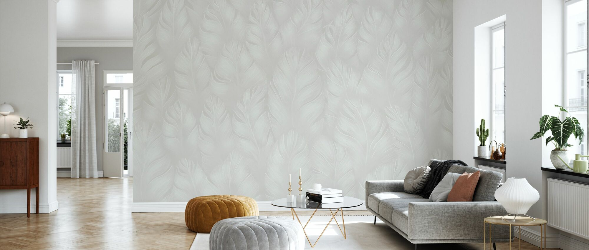 Into the Feathers - Beige - Wallpaper - Living Room