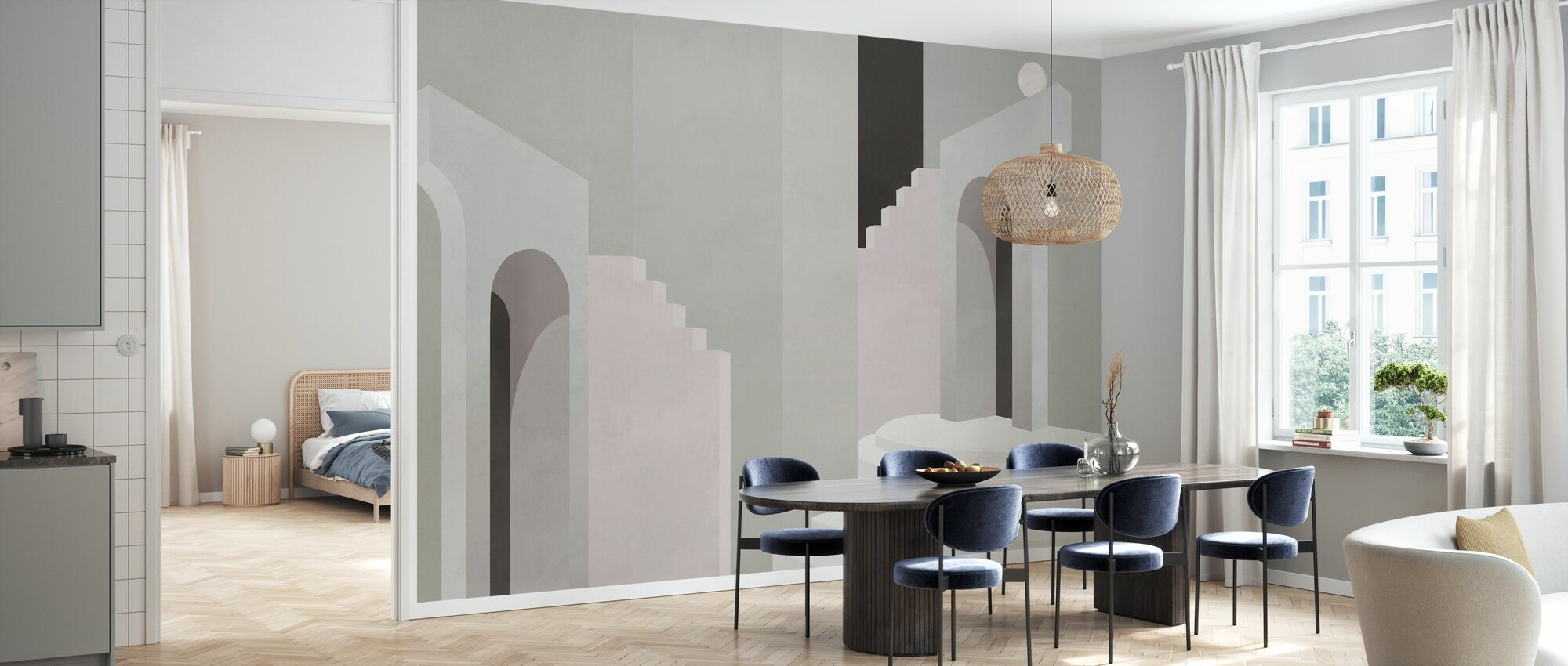 Laconic Temple IIII - Wallpaper - Kitchen