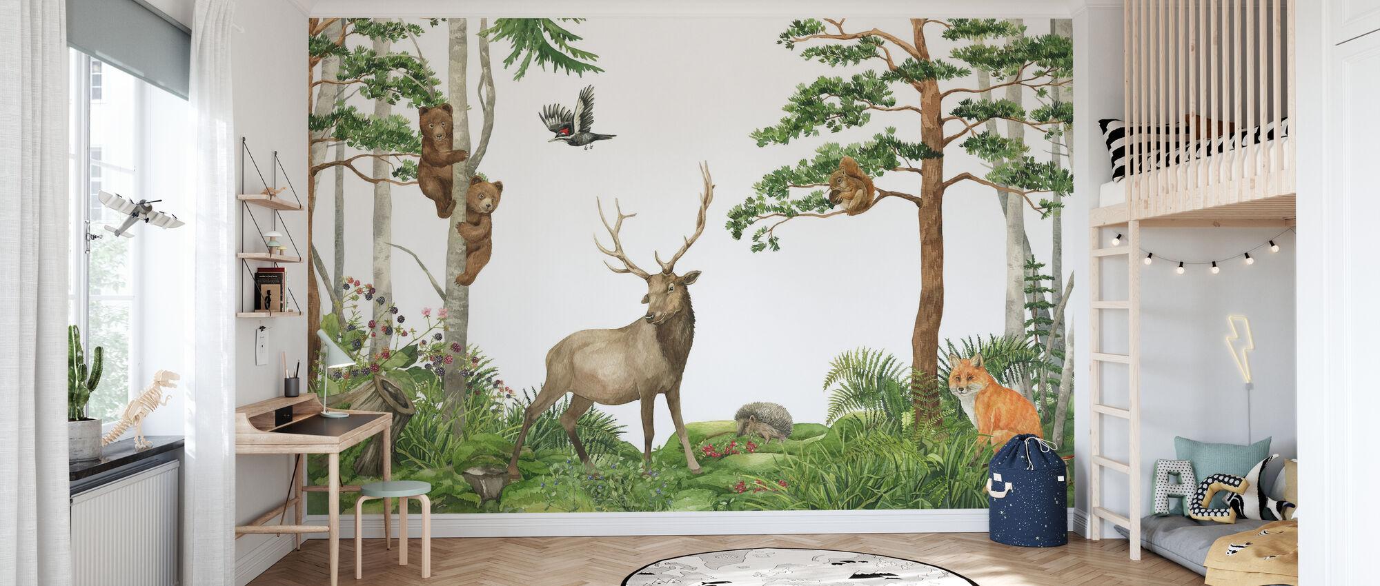 Nordic Forest Friends - Wallpaper - Kids Room