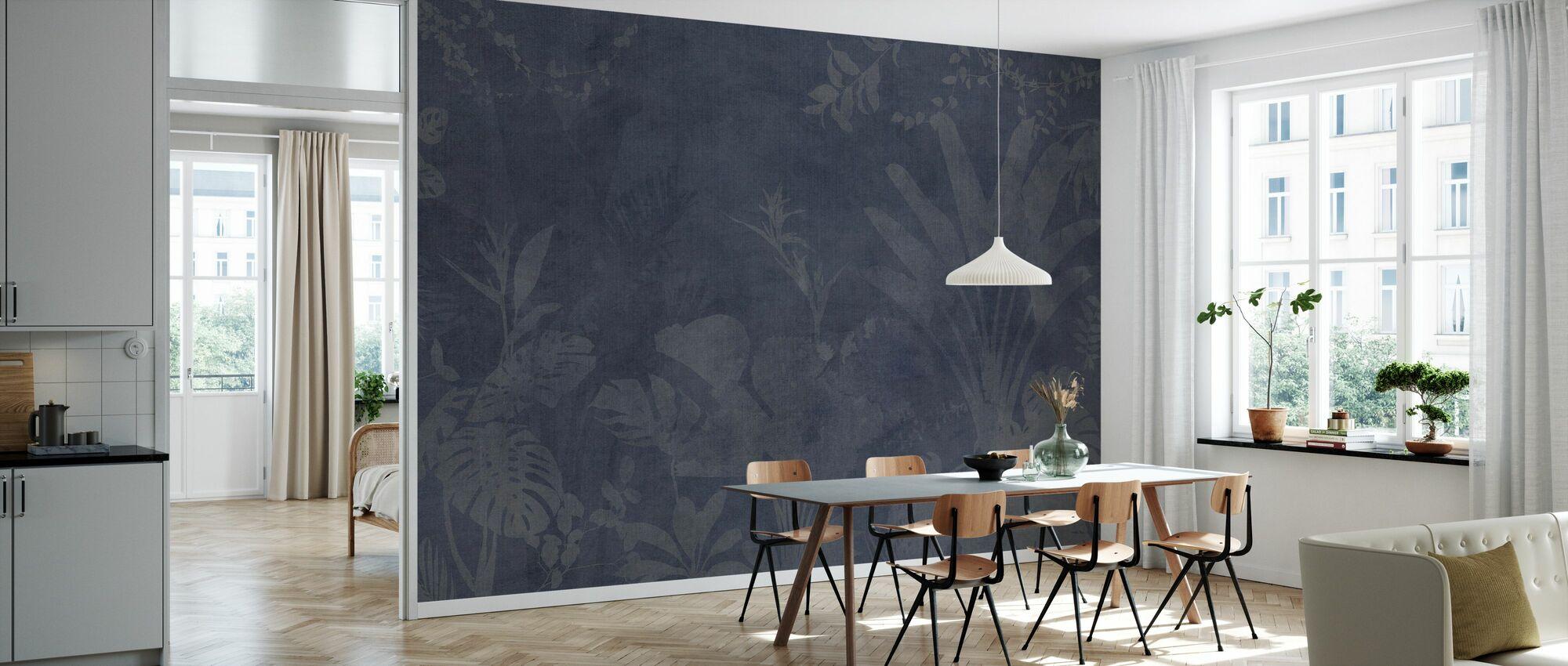 Pantanal Night - Blue - Wallpaper - Kitchen