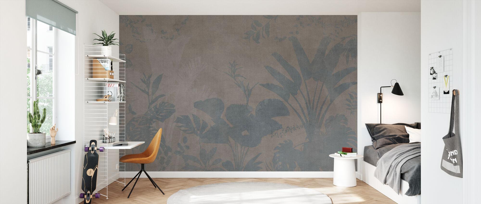 Pantanal Night - Brown - Wallpaper - Kids Room