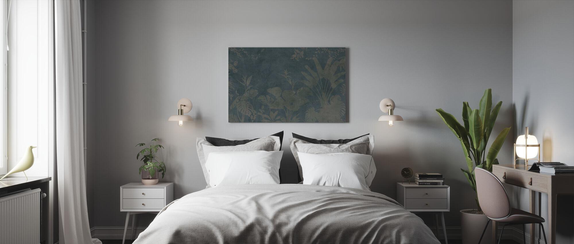 Pantanal Night - Dark Green - Canvas print - Bedroom