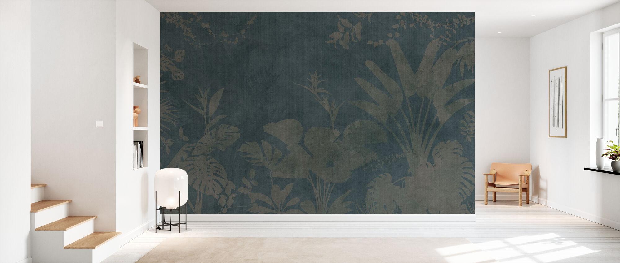 Pantanal Night - Dark Green - Wallpaper - Hallway