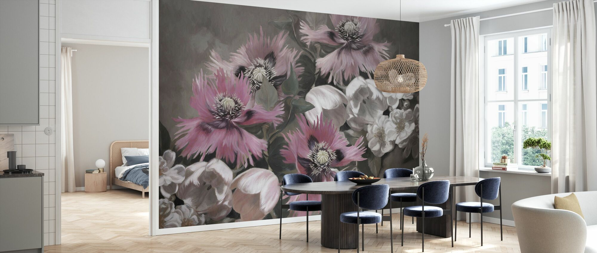 Poppies and Tulips - Wallpaper - Kitchen