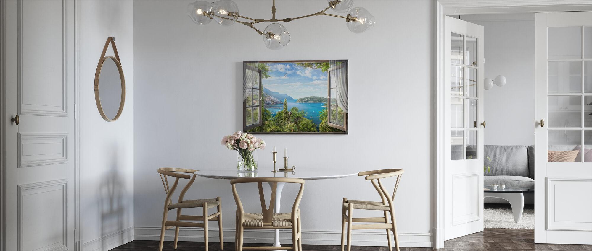 Window Bay View - Canvas print - Kitchen