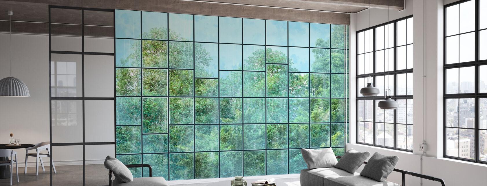 Windows View - Black - Wallpaper - Office