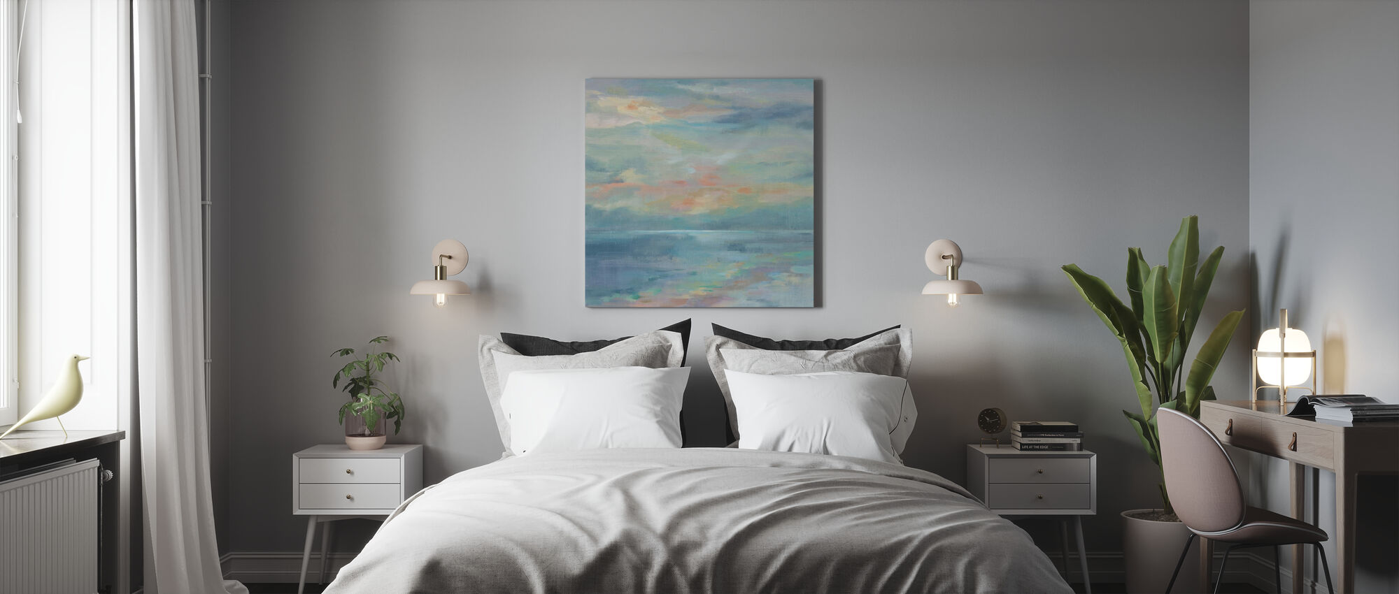 June Morning by the Sea - Canvas print - Bedroom