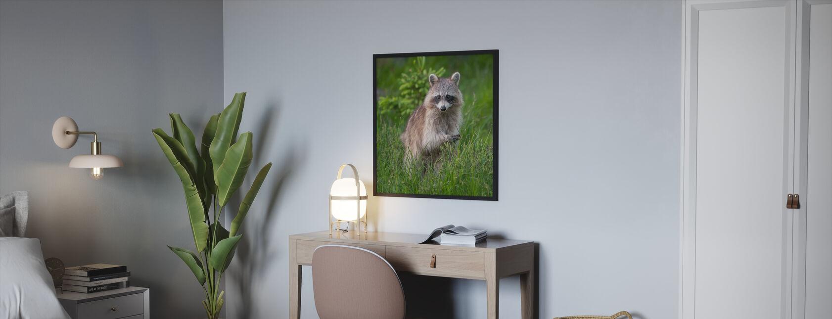Wasbeer - Ingelijste print - Slaapkamer