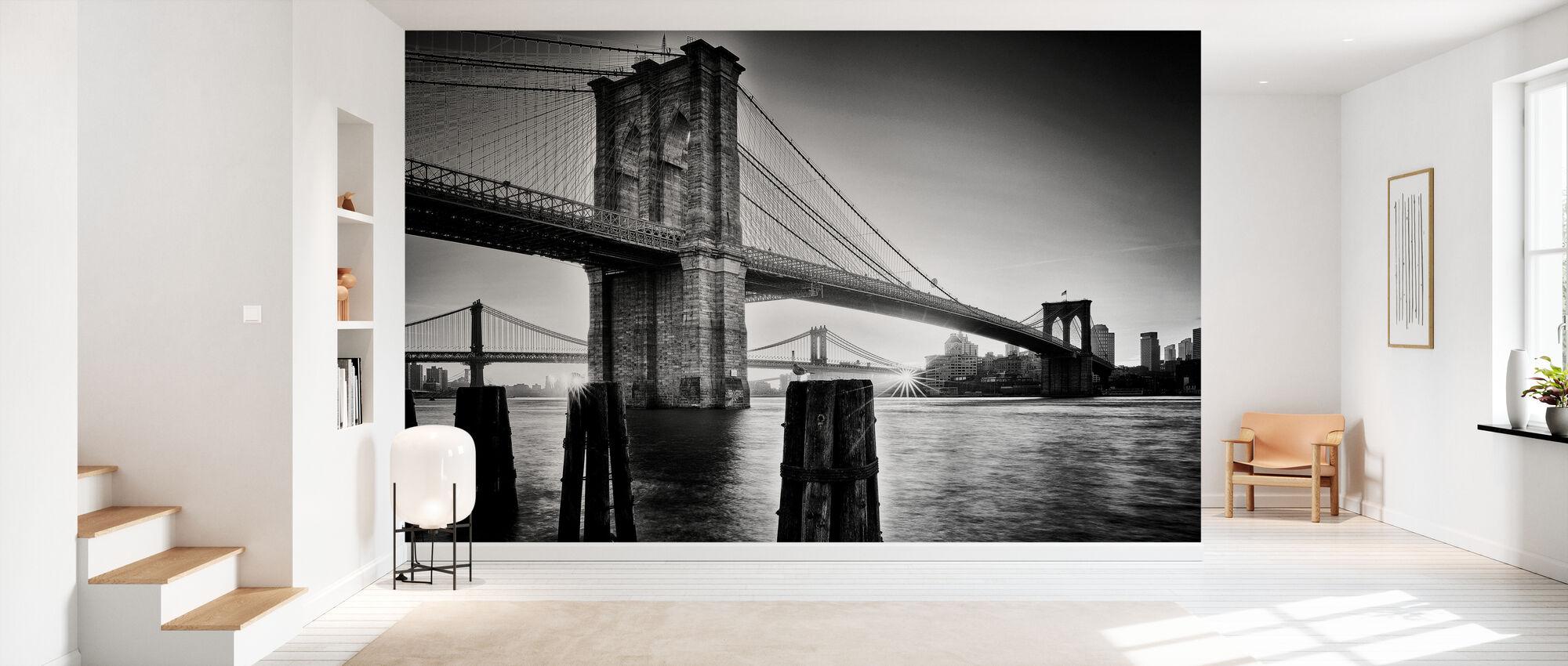 Brooklyn Bridge Sunrise - Behang - Gang