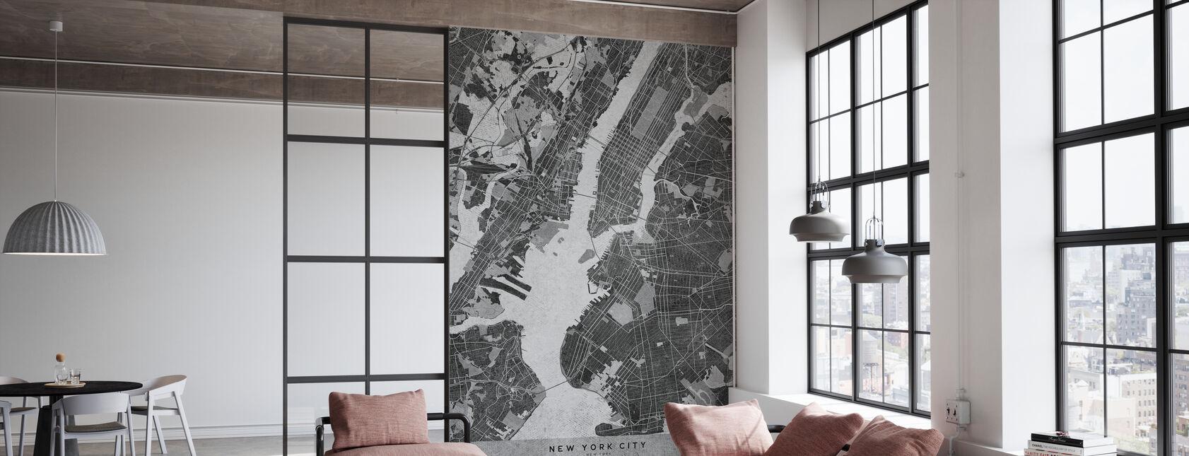New York City Kaart - Behang - Kantoor