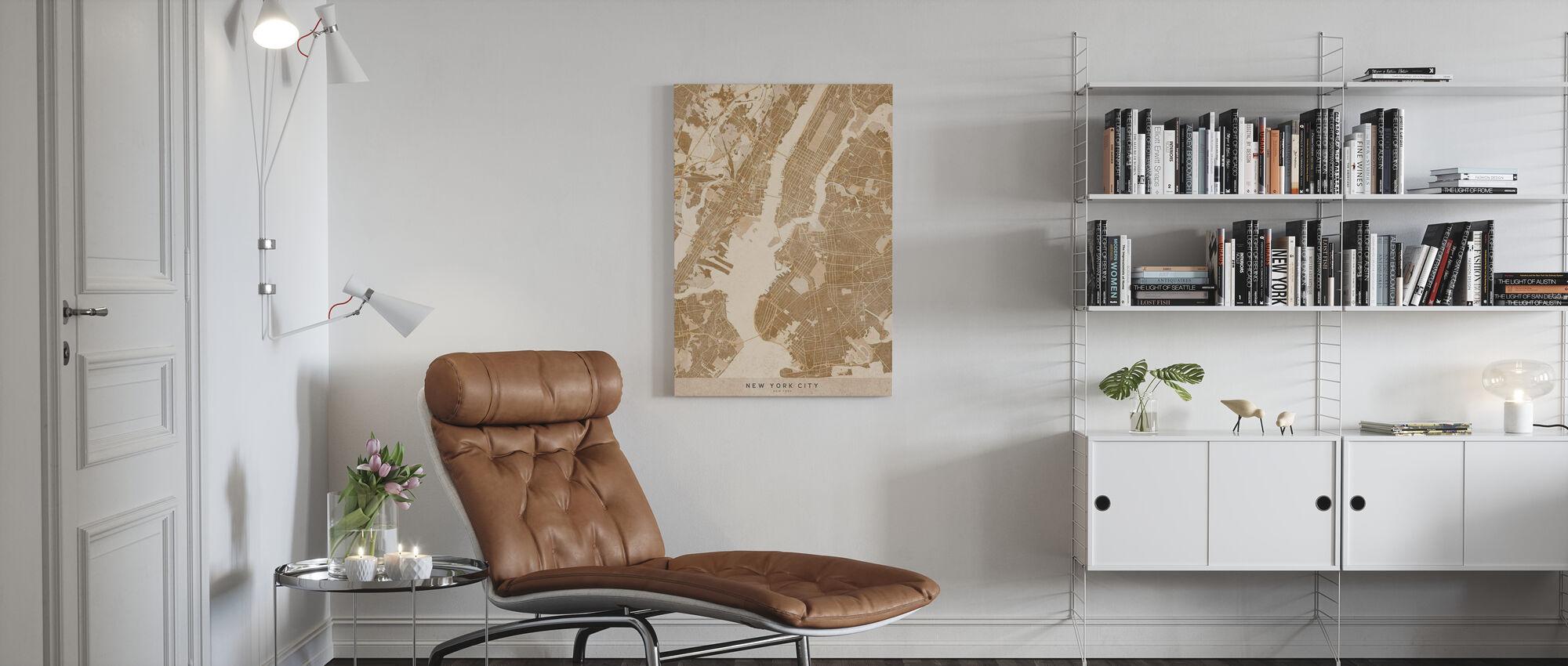 New York City Map II - Canvas print - Living Room